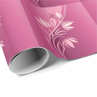 花のファッション2の包装紙 ラッピングペーパー