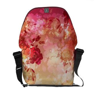 花のファッション6のメッセンジャーバッグ メッセンジャーバッグ