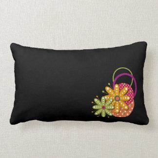花のファンキーなレトロのおもしろいのLumbarの枕 ランバークッション