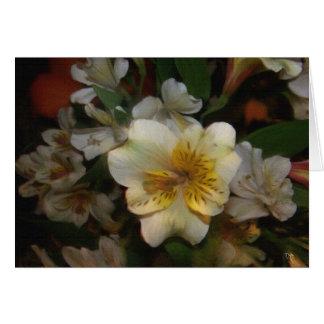 花のファンタジーの挨拶状 カード