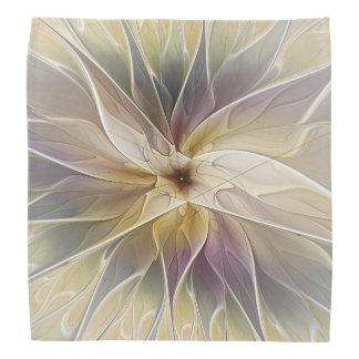 花のファンタジーの金ゴールドのナスの抽象芸術のフラクタルの芸術 バンダナ