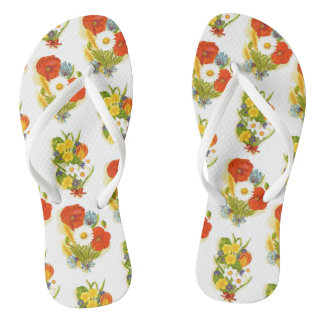 花のフリップフロップ ビーチサンダル