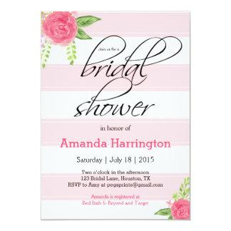 花のブライダルシャワーの招待状-ぼろぼろの上品 カード