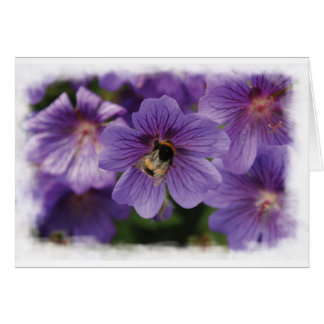 花のブランクの挨拶状の蜂 カード