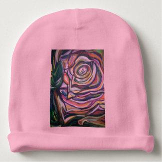 花のベビーの帽子 ベビービーニー