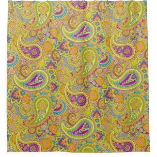 花のペイズリーの継ぎ目が無いパターンI + あなたのアイディア シャワーカーテン