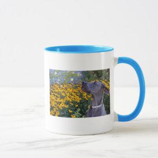 花のマグをストップ、かいで下さい マグカップ