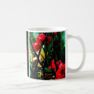 花のマグ コーヒーマグカップ
