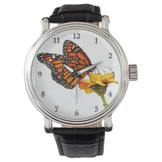 花のマダラチョウ 腕時計