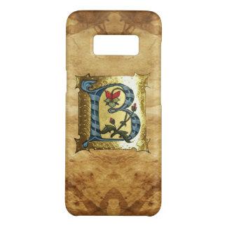 花のモノグラムが付いている青い金ゴールドBの手紙 Case-Mate SAMSUNG GALAXY S8ケース