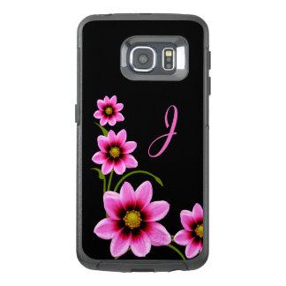花のモノグラムのなオッターボックスのSamsung S6の端の場合 オッターボックスSamsung Galaxy S6 Edgeケース