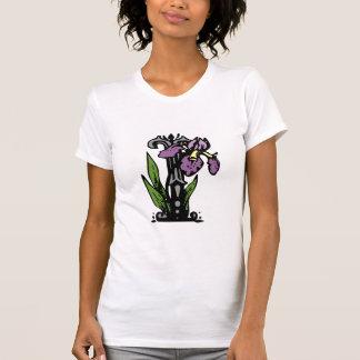 花のモノグラムの手紙I Tシャツ