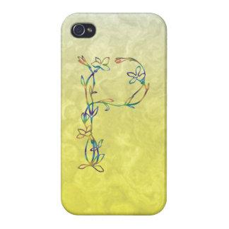 花のモノグラムP iPhone 4/4S カバー