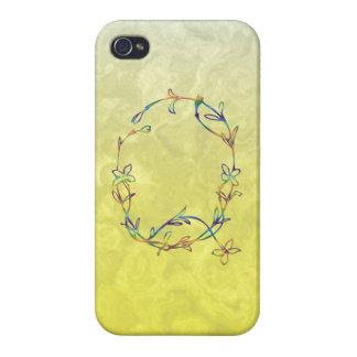 花のモノグラムQ iPhone 4/4S ケース