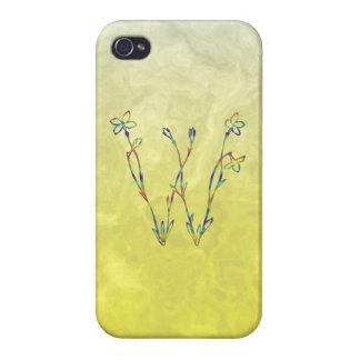 花のモノグラムW iPhone 4/4S カバー