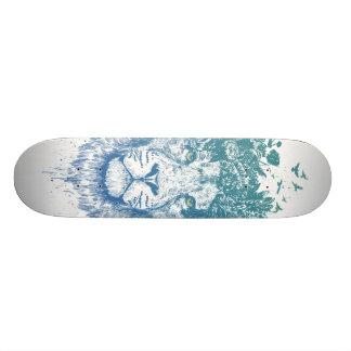 花のライオン スケートボード