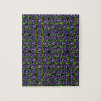 花のラベンダーパターン ジグソーパズル