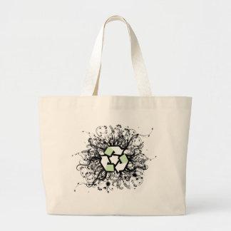 花のリサイクル ラージトートバッグ