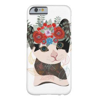 花のリースの猫 BARELY THERE iPhone 6 ケース
