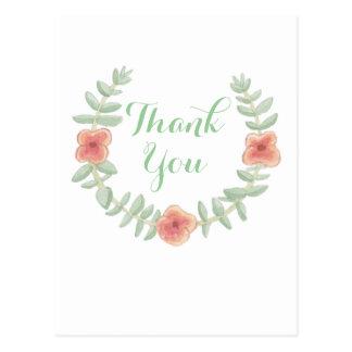 花のリースは感謝していしています ポストカード