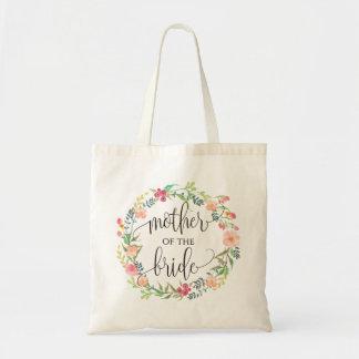 花のリース、花嫁の母、書道6 トートバッグ