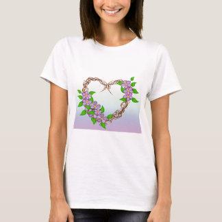 花のリース Tシャツ