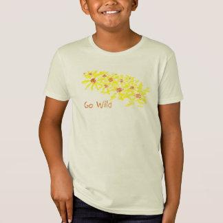 花のワイシャツは熱狂します Tシャツ
