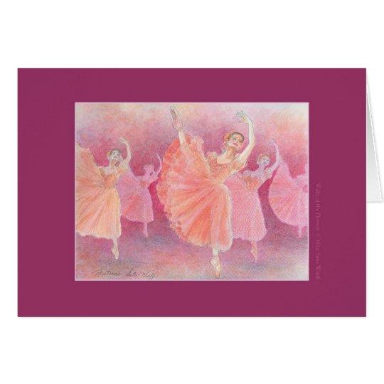 花のワルツ バレエグリーティングカード カード