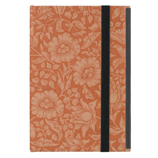 花のヴィンテージの壁紙のウィリアム・モリスの赤い軽い音 iPad MINI ケース