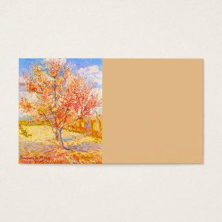 花のヴィンテージの芸術のフィンセント・ファン・ゴッホのモモ木 名刺