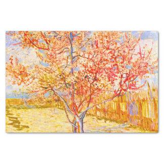 花のヴィンテージの芸術のフィンセント・ファン・ゴッホのモモ木 薄葉紙