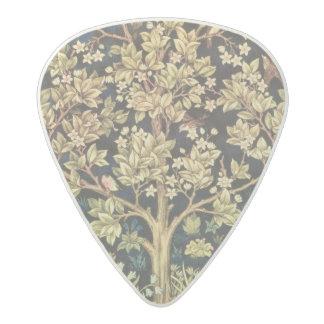花のヴィンテージの芸術ウィリアム・モリスの生命の樹 アセタール ギターピック