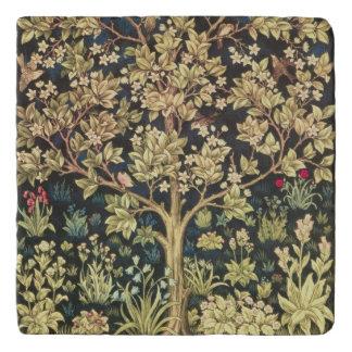 花のヴィンテージの芸術ウィリアム・モリスの生命の樹 トリベット