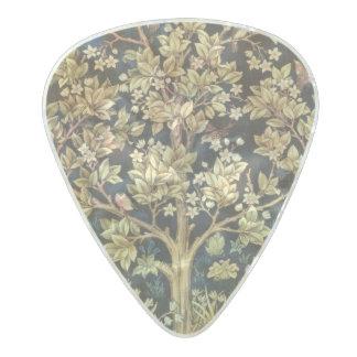 花のヴィンテージの芸術ウィリアム・モリスの生命の樹 パールセルロイド ギターピック