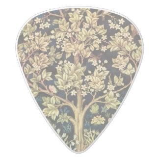 花のヴィンテージの芸術ウィリアム・モリスの生命の樹 ホワイトデルリン ギターピック