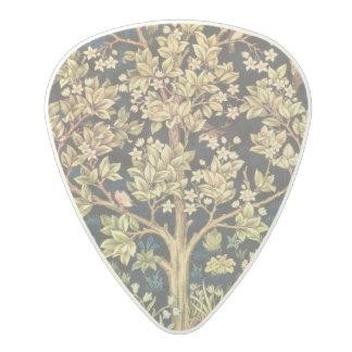 花のヴィンテージの芸術ウィリアム・モリスの生命の樹 ポリカーボネートギターピック