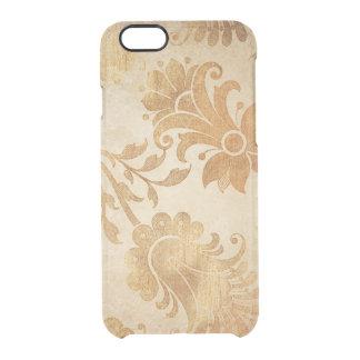 花のヴィンテージのiPhoneのClearly™の金ディフレクター クリアiPhone 6/6Sケース