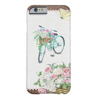 花の不安定状態が付いている美しい自転車 BARELY THERE iPhone 6 ケース