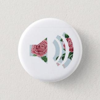 花の健全なボタン 3.2CM 丸型バッジ