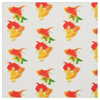 花の児童のキンレンカの花の妖精パターン ファブリック