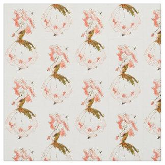 花の児童のシャクヤクの花の妖精パターン ファブリック