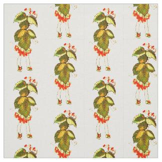 花の児童のツタウルシ花の妖精パターン ファブリック