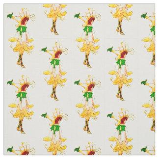花の児童のハニーサックルの花の妖精パターン ファブリック
