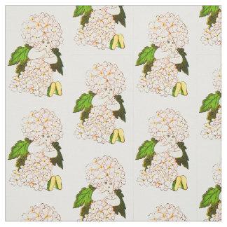 花の児童のバーベナの花の妖精パターン ファブリック