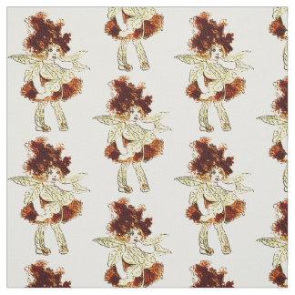 花の児童のミルクの雑草の花の妖精パターン ファブリック