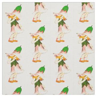 花の児童のリンドウの花の妖精パターン ファブリック