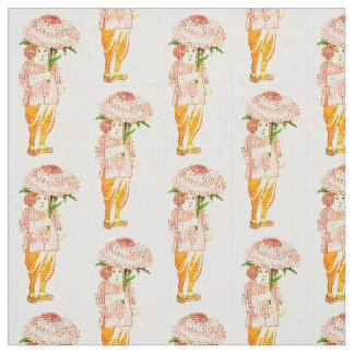 花の児童の星状体の花の妖精パターン ファブリック