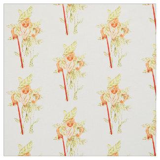 花の児童の賢明な花の妖精パターン ファブリック