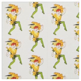 花の児童の金棒の花の妖精パターン ファブリック