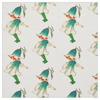 花の児童のBLUEBELLの花の妖精パターン ファブリック
